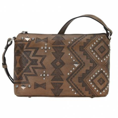 American West Nomad Heart Zip Top Crossbody Bag