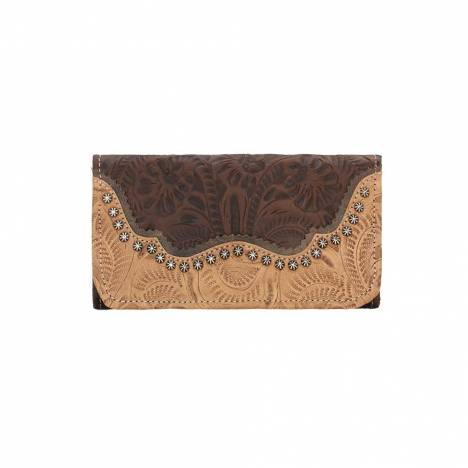 American West Ladies Saddle Ridge Tri-Fold Wallet