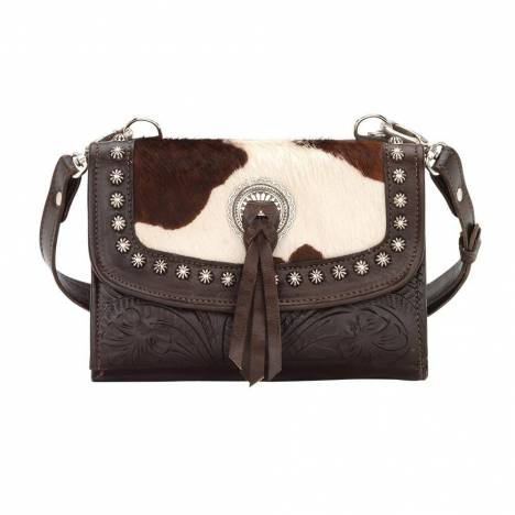 American West Texas Two Step Cow Print Small Crossbody Bag/Wallet