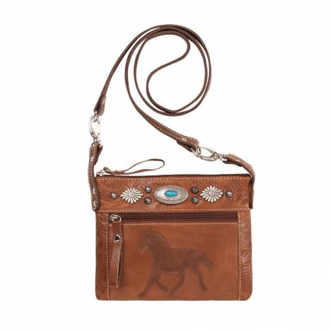 American West Trail Rider Hip/Crossbody Bag - Running Horse