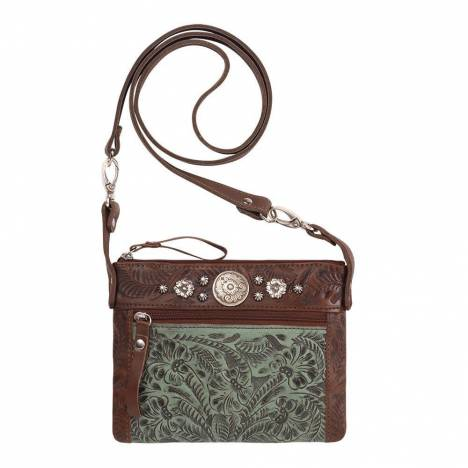 American West Trail Rider Hip/Crossbody Bag - Round Floral Conchos