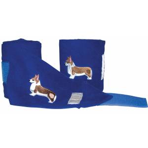 Lettia Embroidered Polo Wraps - Corgi