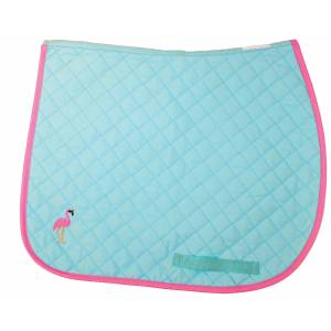 Lettia Embroidered Baby Pad - Flamingo