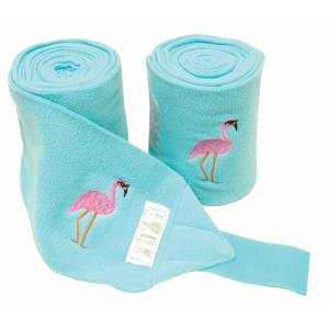 Lettia Embroidered Polo Wraps - Flamingo