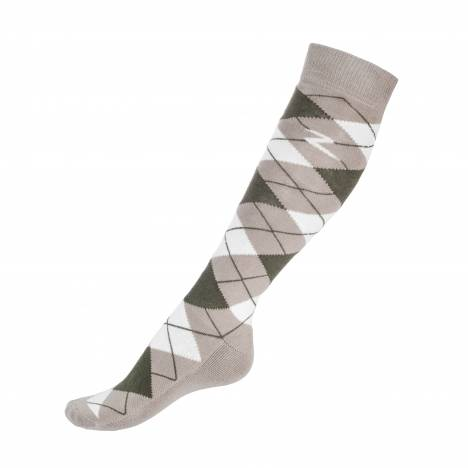 Horze Alana Checked Winter Socks- Adult