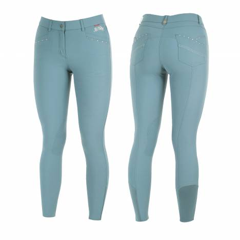 B Vertigo Olivia Breeches Self Knee Patch With Silicone - Ladies