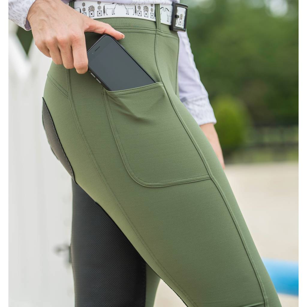 Fits All Season Full Seat Breeches - Ladies - Hunter Green