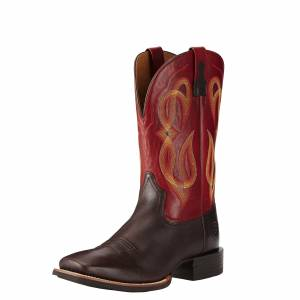 Ariat Quantum Brander - Mens -  Cowboy Coffee/Red