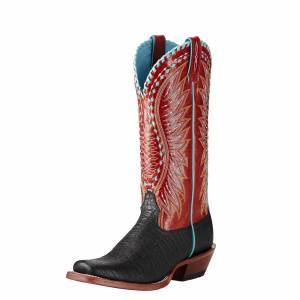 Ariat Derby - Ladies - Black Elephant Print/Scarlet