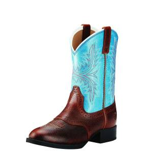Ariat Heritage - Kids - Hackamore Fiddle Brown/Malibu