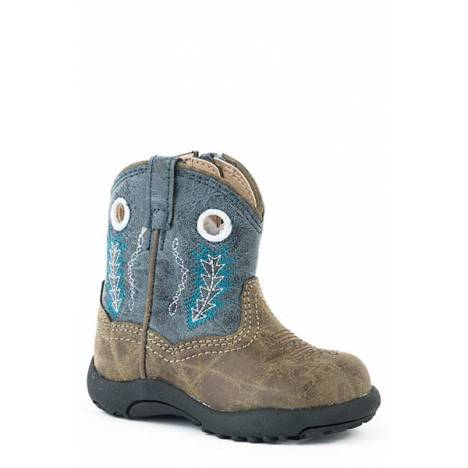Roper Kids Hole In The Wall Pre-Walker Cowboy Boot - Blue