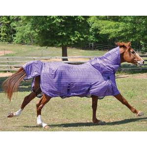 Tuffrider Power Mesh Detachable Neck Fly Plaid Sheet