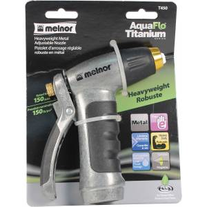 Aquaflo Titanium Heavyweight Adjustable Nozzle
