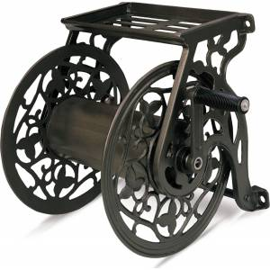 Neverleak Decorative Metal Wall Mount Hose Reel