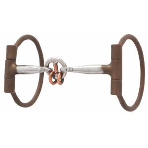 Weaver All Purpose Offset Dee Bit Sweet Iron Lifesaver Mouth with Copper Rings