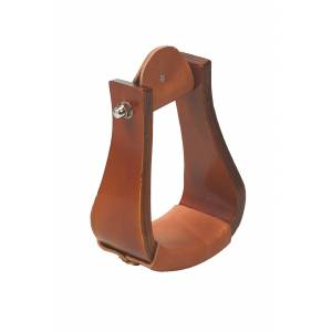 Weaver Sloped Wooden Roper Stirrups with Leather
