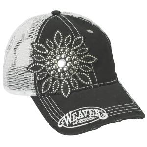 Weaver Ladies Crystal Flower Cap