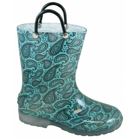 Smoky Mountain Lightning Boot - Kids -Turquoise