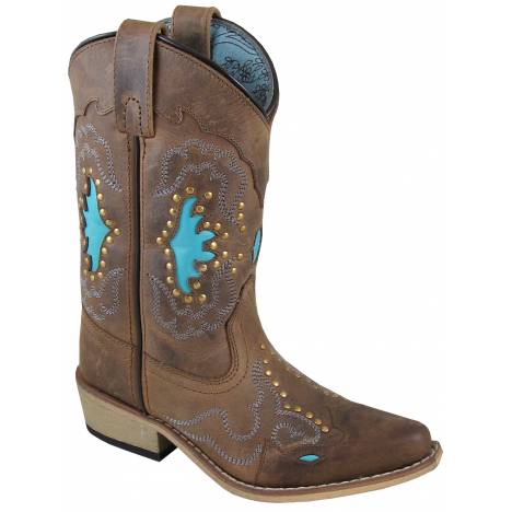 Smoky Mountain Moon Bay Boot - Youth - Brown/Turquoise