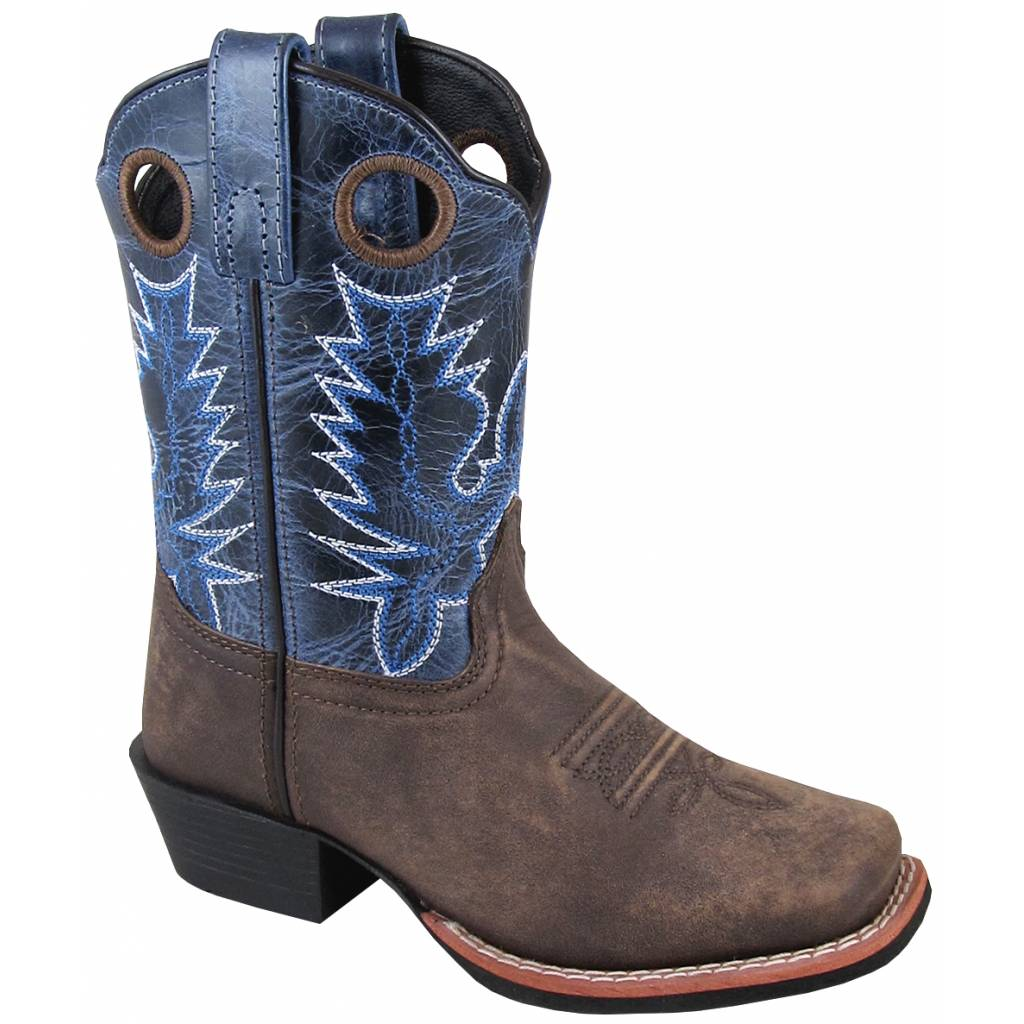 Smoky Mountain Mesa Boot - Youth - Brown/Navy Crackle