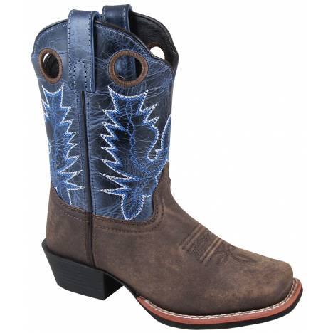 Smoky Mountain Mesa Boot - Kids - Brown/Navy Crackle