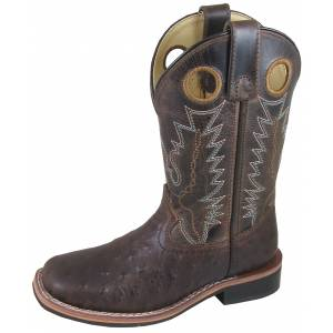 Smoky Mountain Cheyenne Boot - Youth - Tobacco/Brown Crackle