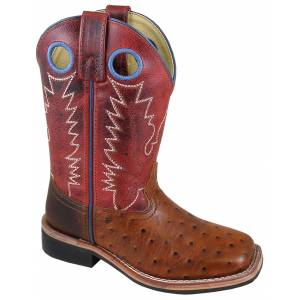 Smoky Mountain Cheyenne Boot - Kids - Cognac/Red