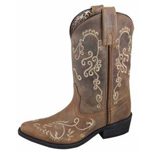 Smoky Mountain Jolene Boot - Youth - Brown Waxed Distress