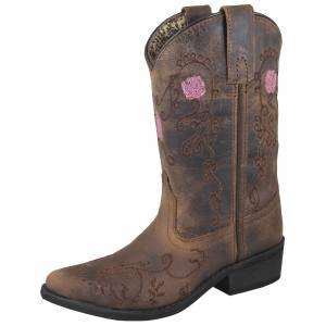 Smoky Mountain Rosette Boot - Ladies - Brown Oil Distress