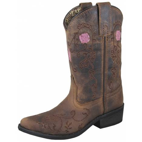 Smoky Mountain Rosette Boot - Youth - Brown Oil Distress