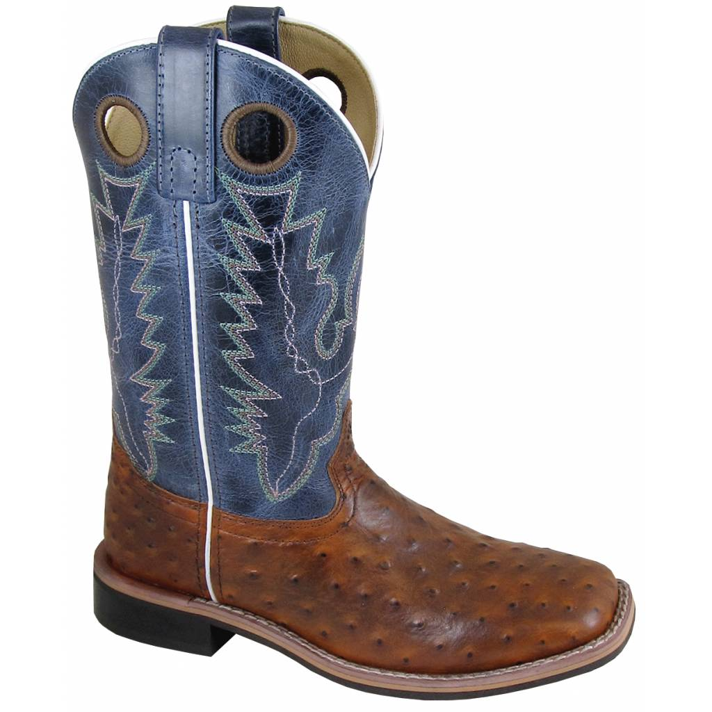 Smoky Mountain Cheyenne Boot - Ladies - Cognac/Navy Crackle