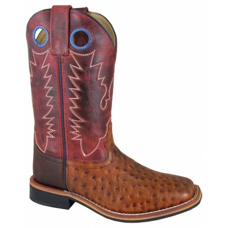 Smoky Mountain Cheyenne Boot - Ladies - Cognac/Red Crackle