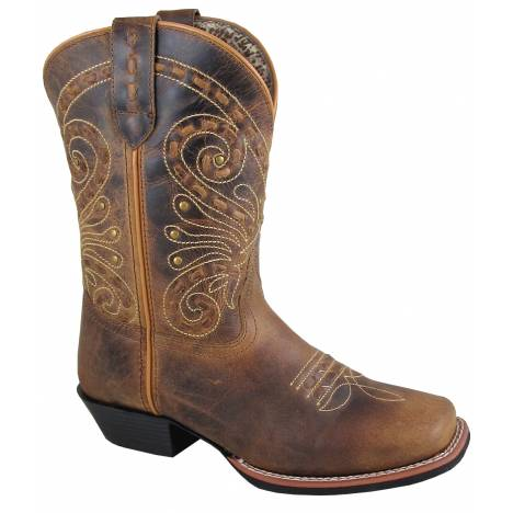 Smoky Mountain Shelby Boot - Ladies - Brown Waxed Distress