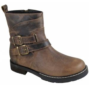 Smoky Mountain Ladies Dylan Boot - Brown Waxed Distress