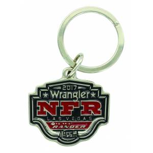 Montana Silver 2017 WNFR Painted Shield Key Ring
