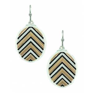 Montana Silver Chevron Sunset Rays Earrings/ Shielded Chevron Earrings