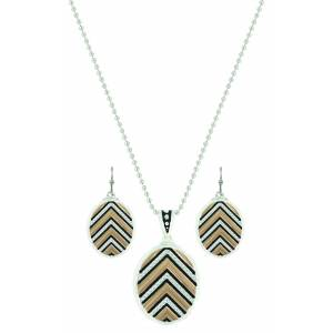 Montana Silver Chevron Sunset Rays Jewelry Set