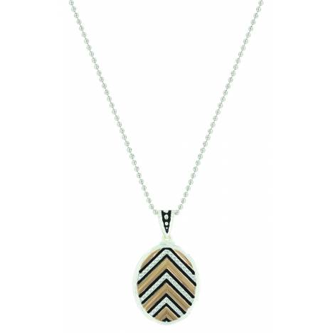 Montana Silver Chevron Sunset Rays Necklace