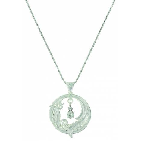 Montana Silver Circle of Feather Necklace