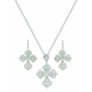 Montana Silver Dazzling Filigree Cross Jewelry Set