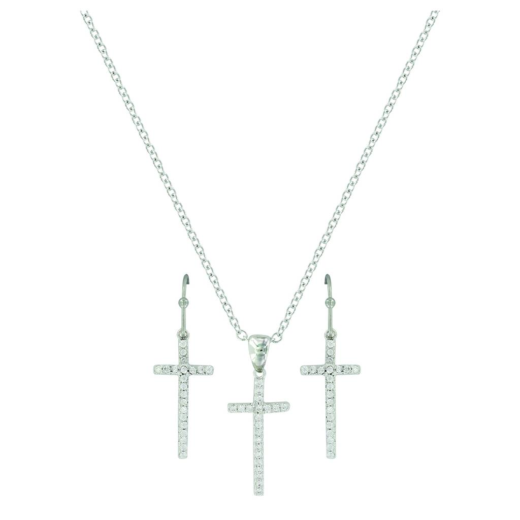 Montana Silver Elongated Cross Jewelry Set
