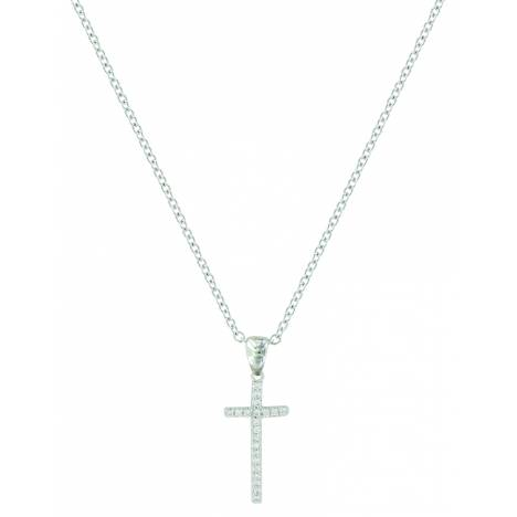 Montana Silver Elongated Cross Necklace