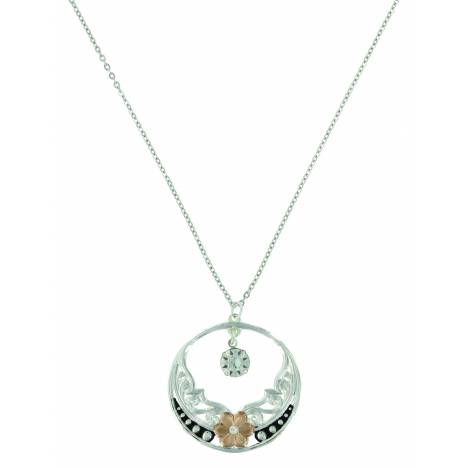 Montana Silver Evening Star's Wild Rose Necklace