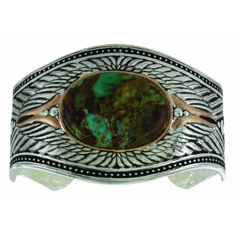 Montana Silver Feathered Turquoise Flight Cuff Bracelet