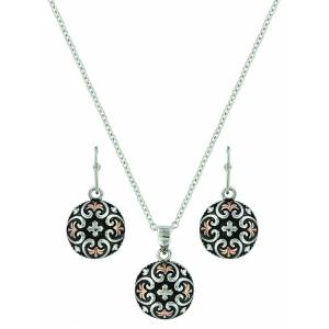 Montana Silver Filigree Heart Button Jewelry Set