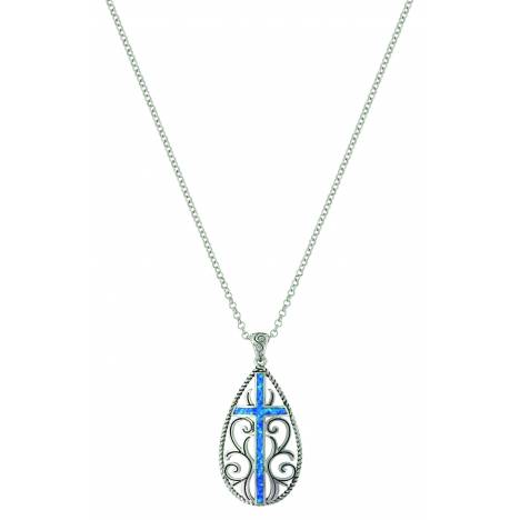 Montana Silver Filigree Water Lights Cross Necklace