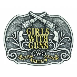 Montana Silver Girls with Gun Right to Bear Arms Attitude Buckle