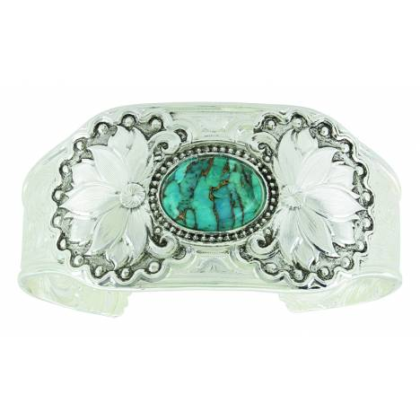 Montana Silver Holding onto Nature Turquoise Cuff Bracelet