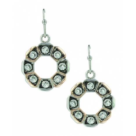 Montana Silver Horseshoe Nail Wreath Earrings
