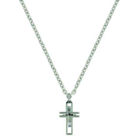 Montana Silver Modern Art Cross Necklace
